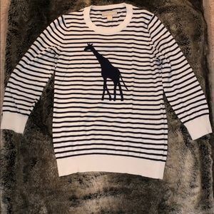 Banana Republic 3/4 Giraffe Sweater